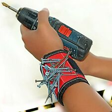Super Strong Magnetic Wristband, Holds Screws, Nails, Bolts Small Metal Tools
