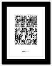 More details for van halen - romeo delight ❤ typography quote poster art limited edition print 93