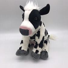 "Wild Republic Cow Lovey Plush Stuffed Animal Barnyard Farm 12"" Eco Friendly J5"