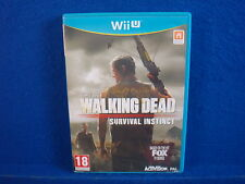 wii U WALKING DEAD SURVIVAL INSTINCT First Person Shooter Game Nintendo PAL UK