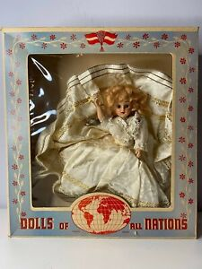 Dolls of All Nations #709 Bride Doll Sleepy Eyes with Box