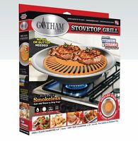 Gotham Steel Nonstick Smokeless Indoor Stove Top Grill BBQ- Healthy Living- NEW!