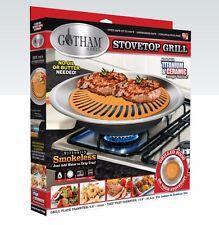 Gotham Steel Nonstick Smokeless Indoor Stove Top Grill BBQ- Healthy Living- NEW!