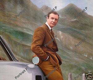 James Bond Oil Painting Original Art Hand-Painted on Canvas 24x28