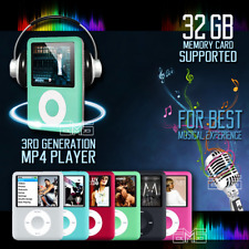 iPod Style Up To 32GB Portable MP3 MP4 Music Video Media Player FM Radio