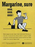 1947 National Assoc of Margarine Manufacturers Print Ad Spread it Gladly Freely