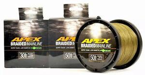 Korda Apex Braided Mainline 450m 1200m 30lb 50lb Carp Coarse Fishing Braid Line