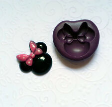 Silicone Mold Minnie Mouse Bow Mould (26mm) Cupcake Topper Chocolate Pop Soap