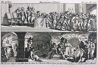 Prison de l'Hôtel de Ville de Lyon 1793 Rhône Rare Gravure Révolution Française