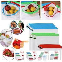 Reusable Mesh Produce Bags Washable Eco Friendly Bag for Storage Fruit Vegetable