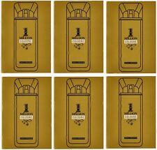 Paco Rabanne One Million Cologne Eau De Toilette Lot of 6 Mens Fragrance Samples