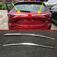 ABS Chrome Rear Trunk Lid Cover Trim For Mazda CX-5 CX5 2017 2018