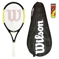 Wilson Nitro Pro 103 Graphite Tennis Racket + 3 Balls + BLX Cover RRP £145