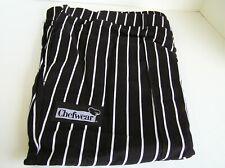Chef Wear 3640 Tailored Pant Black White Stripe Cook Restaurant Kitchen Size 4X