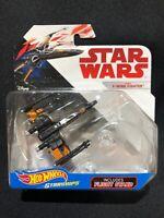 Disney Hot Wheels Star Wars Starships Poe's X-Wing Fighter w/ Flight Stand NIP