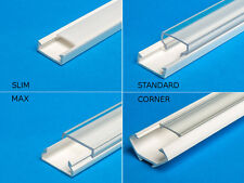 From 1,9/M 2M (6.6 ft) PVC channel for LED Strip Light with Cover profile