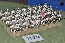 25mm Guerra de los siete años figuras de Infantería francés 36 (7453) De Metal Pintada