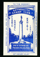US Stamps 1941 Anthracite Stamp Club Label
