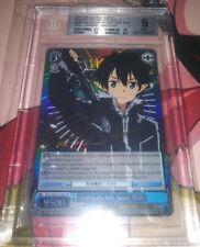 Getting the Holy Sword, Kirito SAO/SE26-E29SP Signed SP Weiss Schwarz