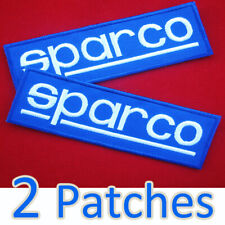 2 X SPARCO Embroidered Iron on Patch Super Blue Color Accessories Suits Racing