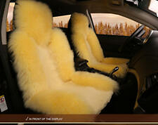 Wool Front Seat Comfortable Cushion Pad Warm Protector For Car Seat Beige