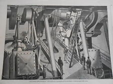 Gravure 1869 - Cable Transatlantique Aspect des machines du Great-Eastern