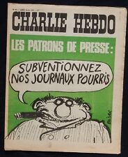 """* Revue CHARLIE HEBDO n°64 Lundi 7 février 1972 """"Les patrons de presse..."""""""