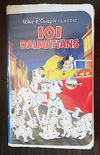 "Walt Disney's Black Diamond Classic ""101 Dalmatians"" VHS 1992 dogs puppies"