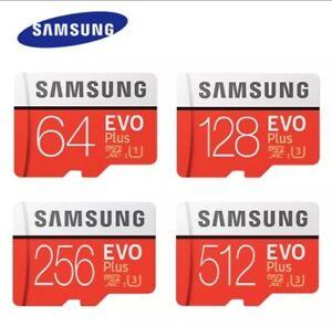 SAMSUNG EVO Plus Micro SD Card SDxC CLASS 10 Card Adapter 64GB 128GB 256GB 512GB