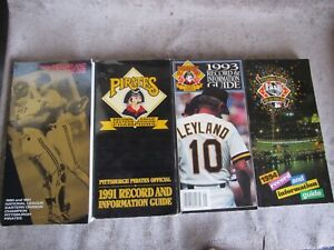 Lot 4 Pittsburg PIRATES  MLB Media Guides:  1990 1991 1993 1994