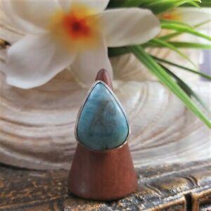 Larimar Emotional Healing Gemstone Ring US 8 (E1706)