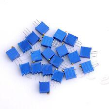 20pcs 10 Values Potentiometer Trimpot Variable Resistor Assortment Box Kit