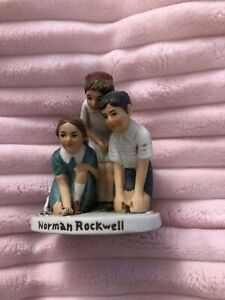 """Norman Rockwell Figurine """"Marble Players"""" Dave Grossman NR-211 Japan 1979 3x2"""""""
