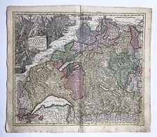 An Antique European Map By Matthaus Seutter 1678-1757