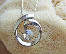Kette mit Anhänger mit Swarovski Kristall Farbe Silber Mode Schmuck SR13