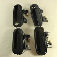 Outside Door Handle 4PCS For 1998-2002 Toyota Corolla Silver Front /& Rear DS500