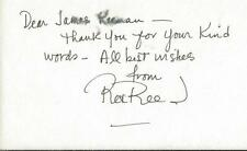 Rex Reed Signed 3x5 Index Card Note