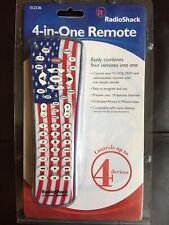 Radio Shack 4 in 1 Remote Universal USA Flag Red White Blue NEW SEALED PATRIOTIC