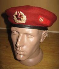Soviet Russian RED Maroon Hat Cap Beret USSR Uniform