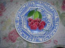 """Vintage French Gien Oiseau Bleu Plate 6.5"""""""