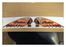 100MM X 38MM INDIAN (PAIR) MOTORCYCLE STICKER DECAL RETRO