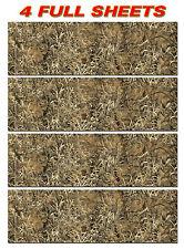 "4 CAMOUFLAGE VINYL DECAL 52"" x 16"" TRUCK WRAP TREE PRINT DUCK CAMO GRASS"