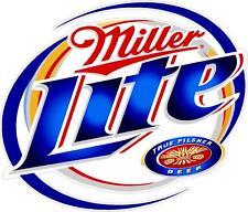 """2 Miller Lite 13"""" Cornhole Vinyl Decals Stickers Baggo Toss Beer"""