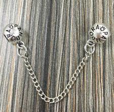Fashion Round Spacer Safety Chain European Charm Silver Bead For Bracelet