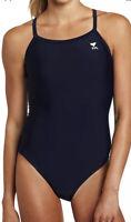 TYR Women's Swimwear Navy Blue Size 36 One-Piece Diamondback Swimsuit