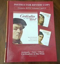 Civilization in the West *Kishlansky *Geary*O'Brien Volume 1 and 2. Instructor R