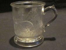 EAPG Central Glass Rabbit & Lamb Mug
