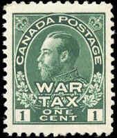 1915 Mint H Canada VF Scott #MR1 1c War Tax Issue Stamp