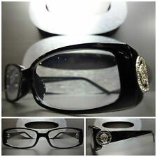 Men or Women CONTEMPORARY READING EYE GLASSES READERS Black & Silver Frame +1.75
