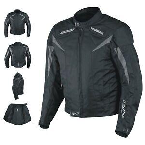 Motorcycle Jacket CE Armored Textile Motorbike Racing  Thermal Liner  Black XXL